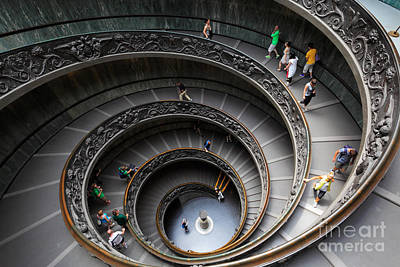 Daylight Photograph - Vatican Spiral Staircase by Inge Johnsson