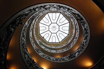 Ancient Rome Photograph - Vatican Staircase by David Waldo