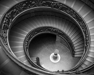 Spiral Photograph - Vatican Stairs by Adam Romanowicz