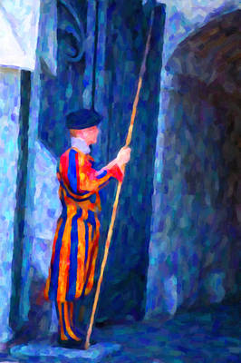 Vatican Swiss Guard Art Print
