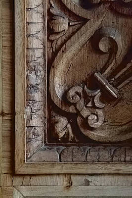 Photograph - Vatican Window Shutter Detail by Michael Flood