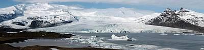 Vatnajokull Ice Cap And Glacier Art Print by Jeremy Walker