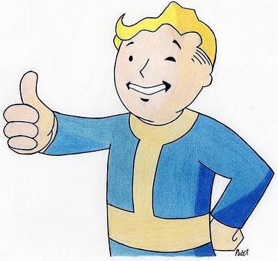 Drawing - Vault Boy by Bav Patel
