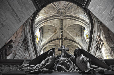 Photograph - Vaults And Detail Of Saint-sulpice Church - Paris by RicardMN Photography