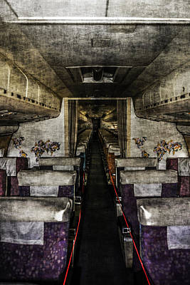 Vc10 Cabin Grunge Original by Chris Smith