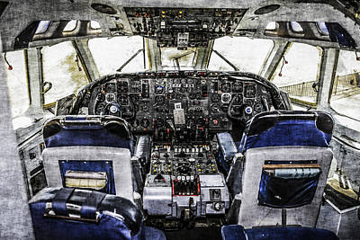 Vc10 Flight-deck Art Print