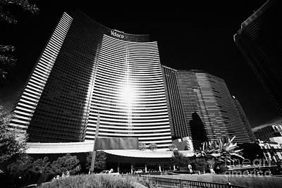 vdara condo hotel and spa and cosmopolitan hotel and casino Las Vegas Nevada USA Art Print