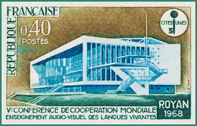 Charente Maritime Painting - Ve Education Conference Global Cooperation Of Audio-visual Languages Royan 1968 by Lanjee Chee