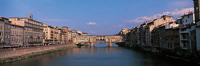 Vecchio Bridge Florence Italy Art Print by Panoramic Images