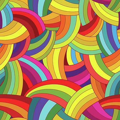 Digital Art - Vector Abstract Seamless Pattern by Linaflerova