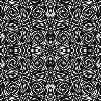 Fountain Wall Art - Digital Art - Vector Abstract Seamless Wavy Pattern by L. Kramer