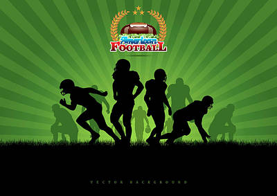 Vector Football Background Art Print by Stock art