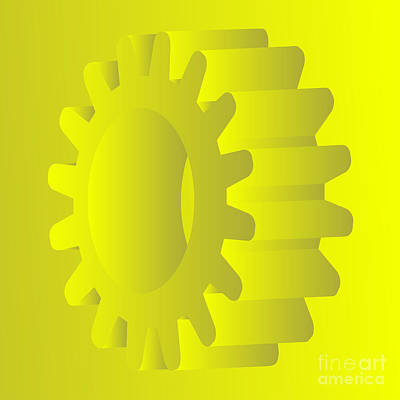 Machine Part Digital Art - Vector Gears by Michal Boubin