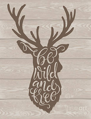 Tribal Wall Art - Digital Art - Vector Illustration Of Deer Silhouette by Bariskina