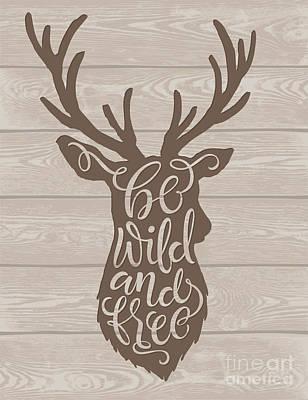 Decorative Digital Art - Vector Illustration Of Deer Silhouette by Bariskina