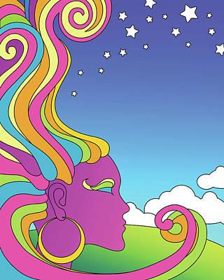 Digital Art - Vector Illustration Of Psychedelic by Teddyandmia