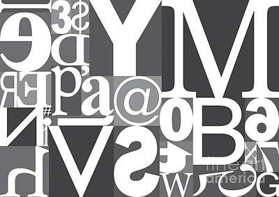 Digital Art - Vector Typography Blocks by Rob Pitman