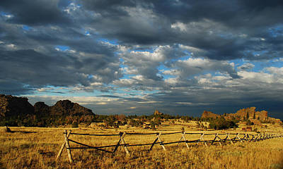 Old West .america Photograph - Vedauwoo Sky by Aaron Bedell