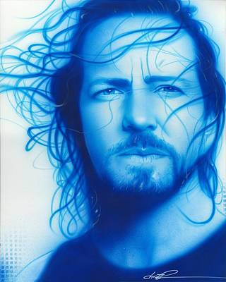 Popular Painting - Eddie Vedder - ' Vedder ' by Christian Chapman Art
