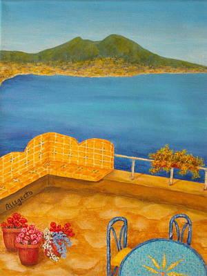 Painting - Veduta Di Vesuvio by Pamela Allegretto
