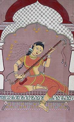 Veena Painting - Veena Player by Prasida Yerra