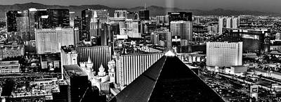 Photograph - Vegas Black And White by Benjamin Yeager