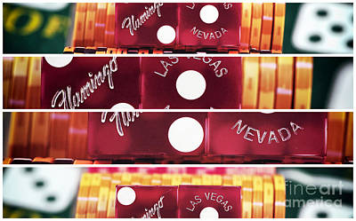 Photograph - Vegas Dice Panels by John Rizzuto