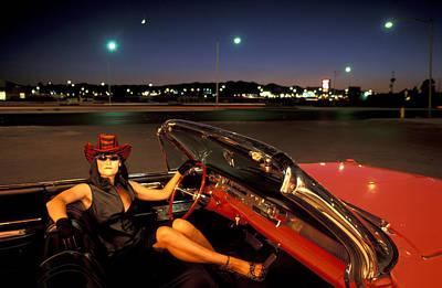 Vegas Night Print by Christian Heeb