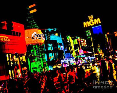 La Coca Digital Art - Vegas Lights by Rebekah Wilson