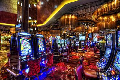 Photograph - Vegas Slot Machines by Yhun Suarez