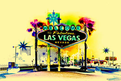 Nevada Digital Art - Vegas Weekends by Az Jackson
