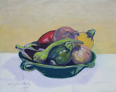 Painting - Vege In Green Bowl by Winifred Lesley