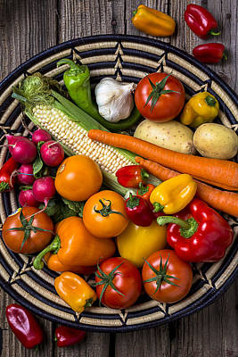 Baskets Photograph - Vegetable Basket    by Garry Gay