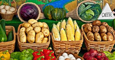 Vegetable Bounty Art Print by Valerie Garner