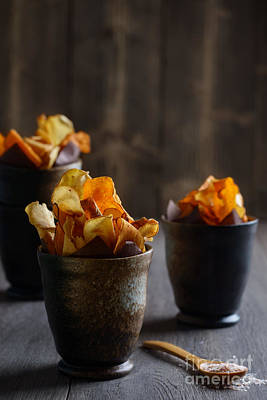 Turnips Photograph - Vegetable Crisps by Amanda Elwell