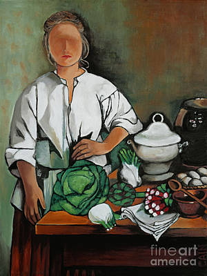 Painting - Vegetable Lady Wall Art by William Cain