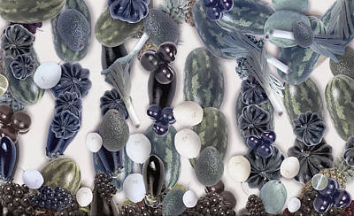 Blue Fig Digital Art - Vegetable by Odon Czintos