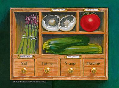 Zucchini Photograph - Vegetable Shelf by Brian James