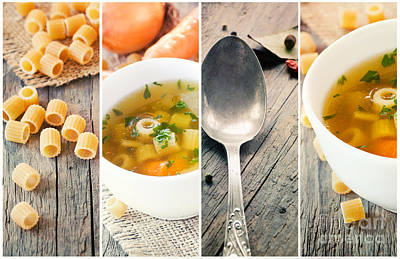 Stew Photograph - Vegetable Soup Collage by Mythja  Photography