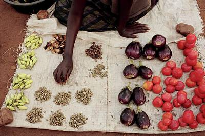 Black Commerce Photograph - Vegetable Stall by Mauro Fermariello