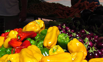 Photograph - Vegetable Table by Bonnie Muir