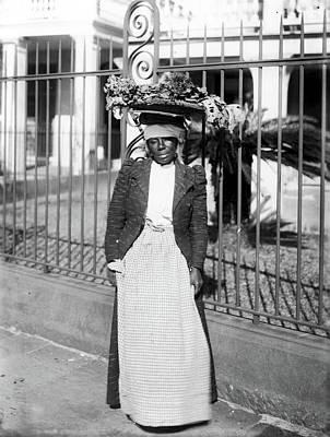 Black Commerce Photograph - Vegetable Vendor, C1900 by Granger