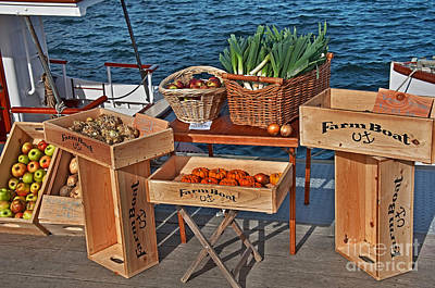 Vegetables At Floating Farmer's Market Art Print by Valerie Garner