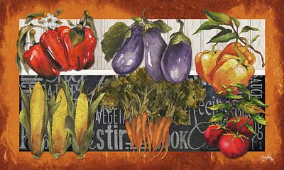 Fresh Digital Art - Vegetables Farm Fresh by Elizabeth Medley