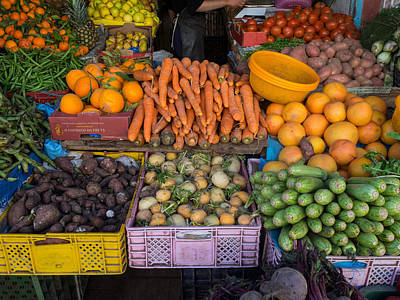 Essaouira Photograph - Vegetables For Sale In Market by Panoramic Images