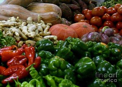 Photograph - Vegetables In Chinese Market by Barbie Corbett-Newmin