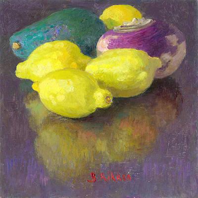 Painting - Vegetables Lemons Avocado And Turnip by Ben Rikken