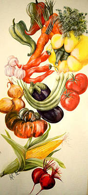 Painting - Vegetables No. 1 by Patricia Rachidi