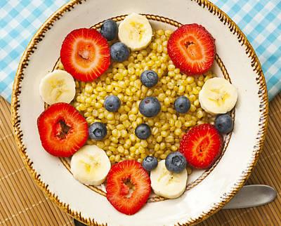 Vegetarian Breakfast Wheat Berries With Fruit Art Print