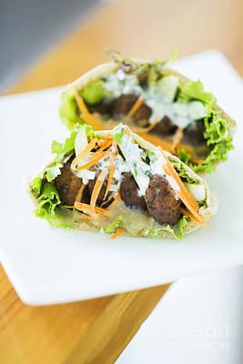 Vegetarian Falafel In Pita Bread Sandwich Art Print